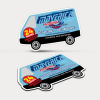 Fridge Magnet 90mm x 55mm (Van Shape)
