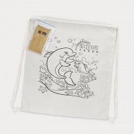Cotton Colouring Drawstring Backpack image