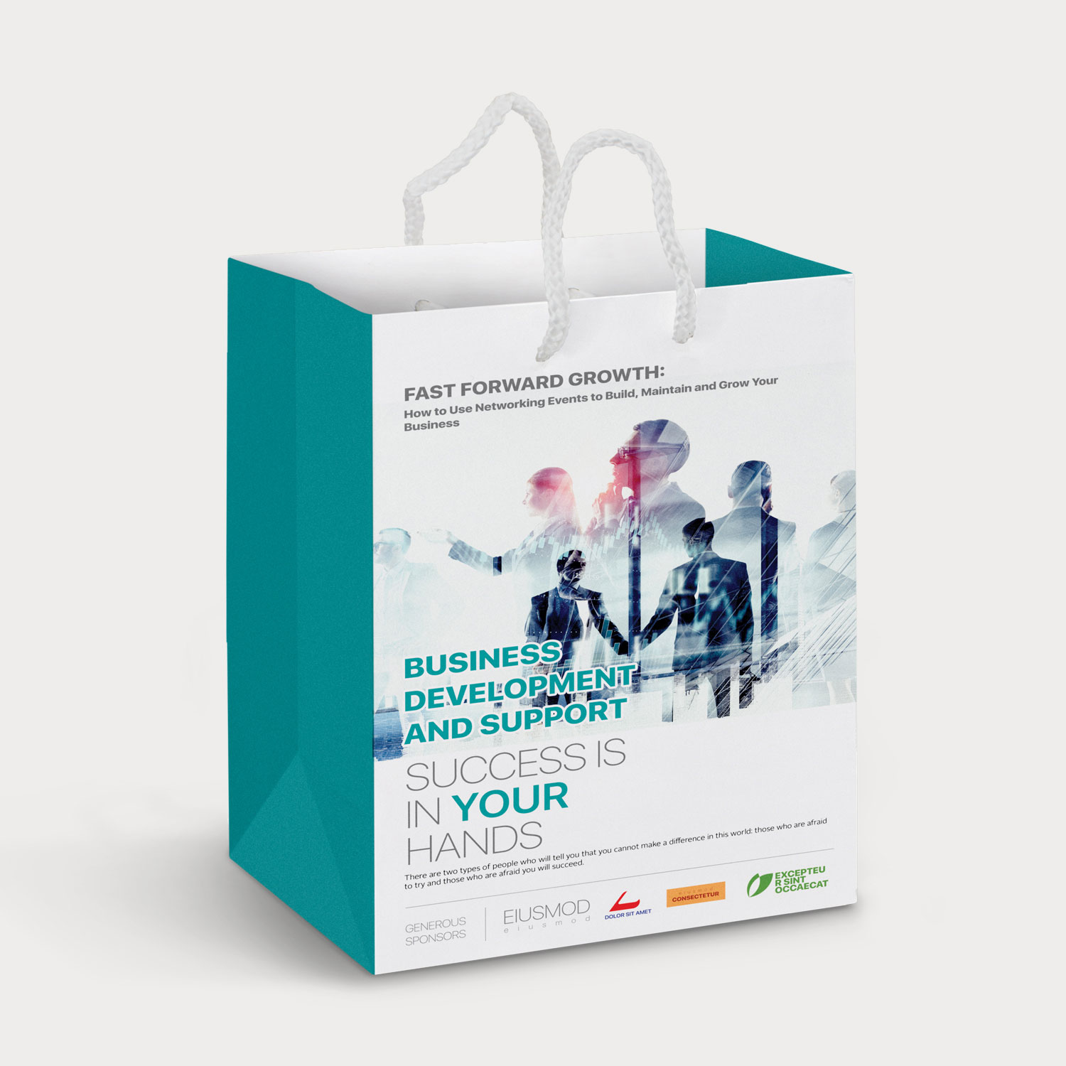 Medium Laminated Paper Carry Bag Full Colour Primoproducts